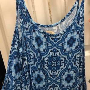 Dresses & Skirts - Blue patterned shift/babydoll dress